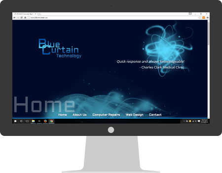 BlueCurtain website, desktop