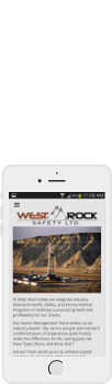 West Rock Safety website, mobile view